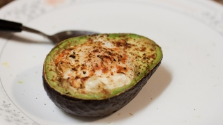 Baked Avocado Egg on Top