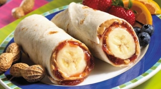 PB and J Banana Burrito
