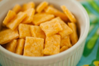 Homemade Cheeze-its