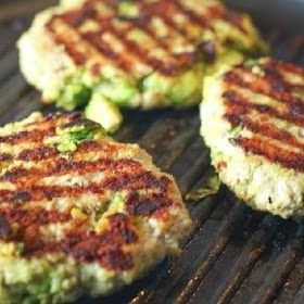 Turkey Avocado Burgers