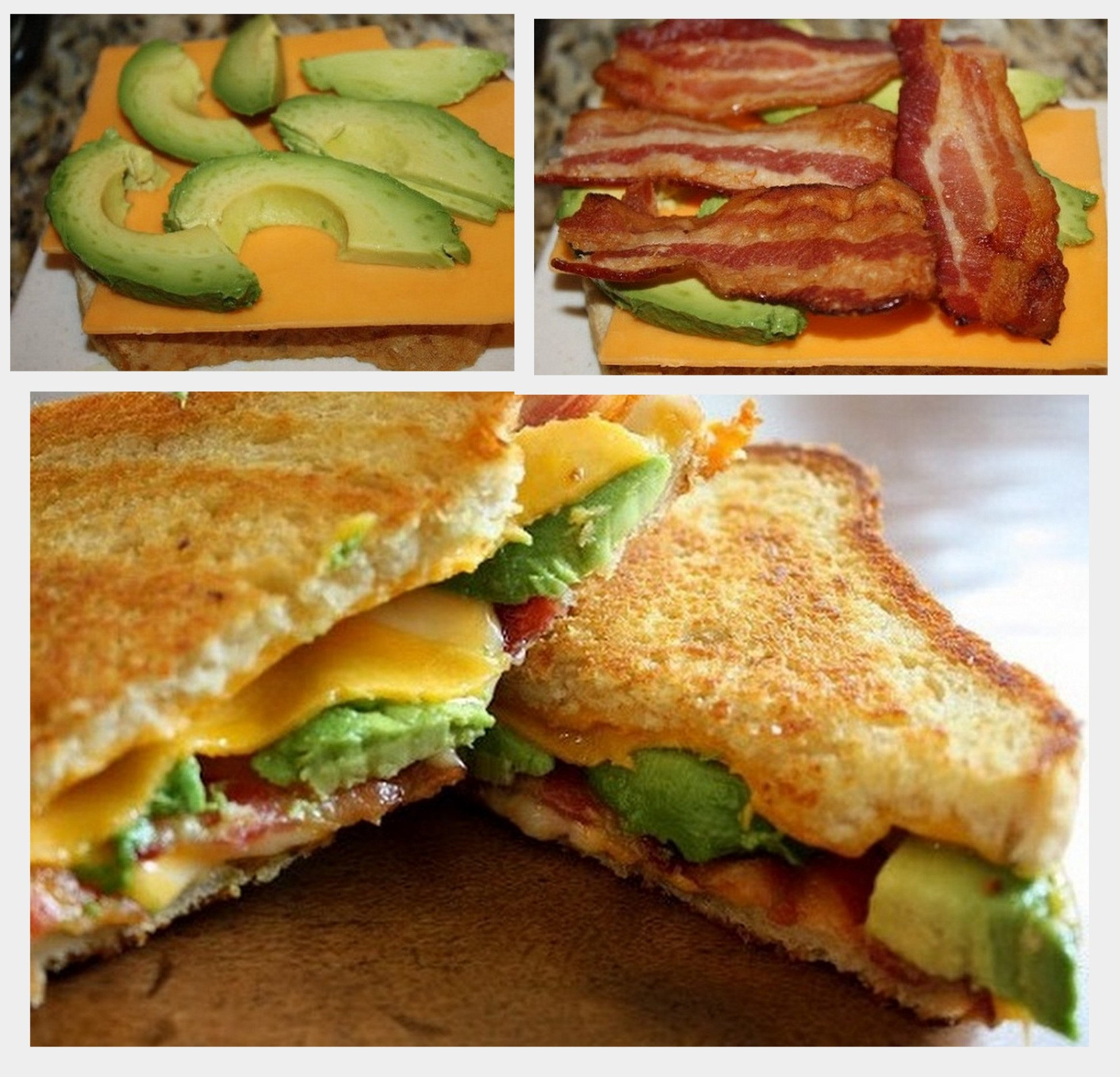 MyFridgeFood - Bacon Avocado Grilled Cheese