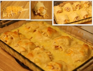 Cheesy Chicken Rolls