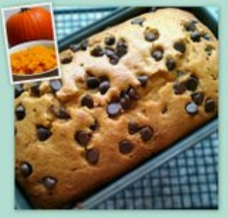 MyFridgeFood - Chocolate Chip Pumpkin Bread
