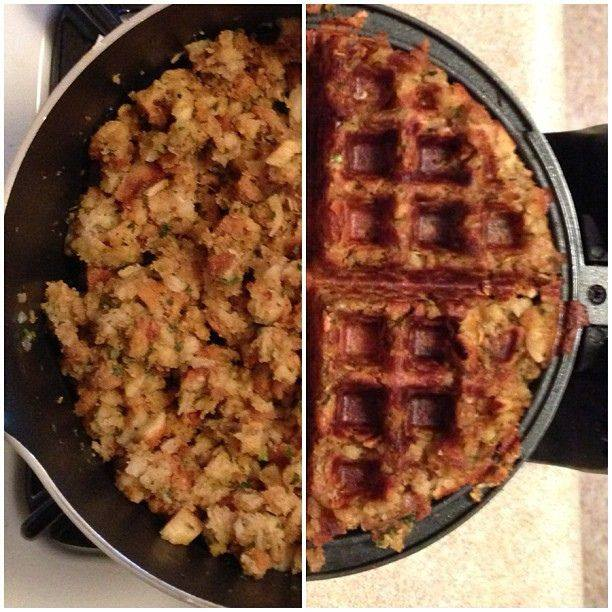 Stuffing Waffles - Leftovers!