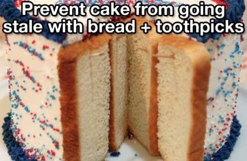 Bread and Toothpicks save cakes