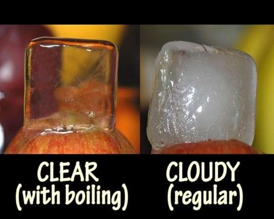 Clearing up ice cubes