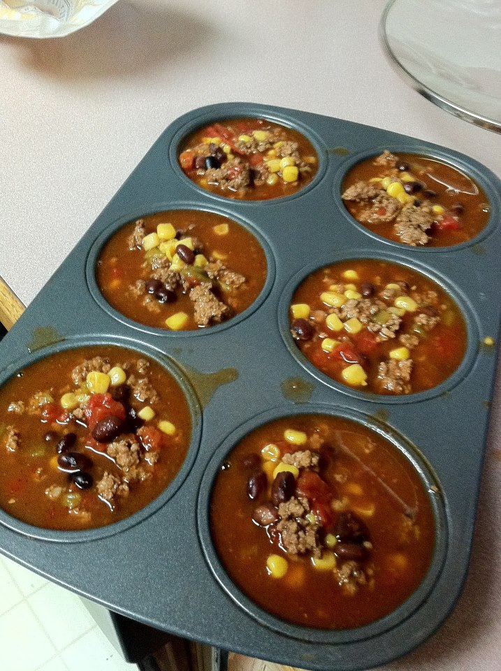 Freeze Soup in Muffin Pan