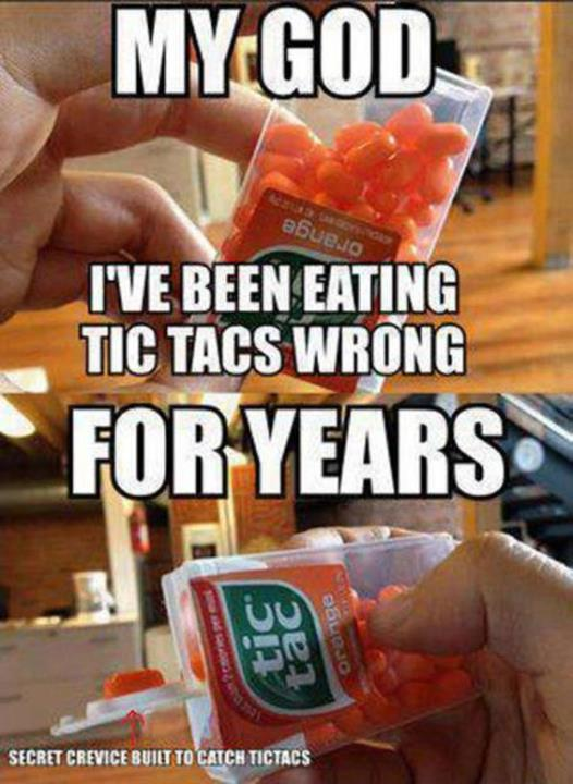 Proper way to eat a Tic-Tac