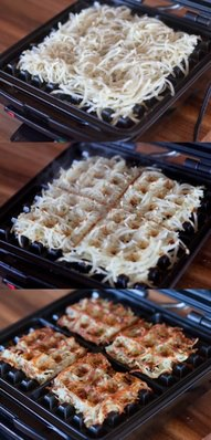 Hash Browns in a Waffle Iron