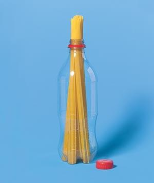 Measure Pasta with Soda Bottle