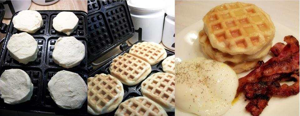 Make Biscuits in the Waffle Maker
