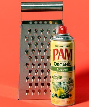 Spray your cheese grater with Cooking Spray