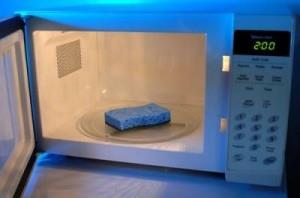 Clean your sponges in the Microwave