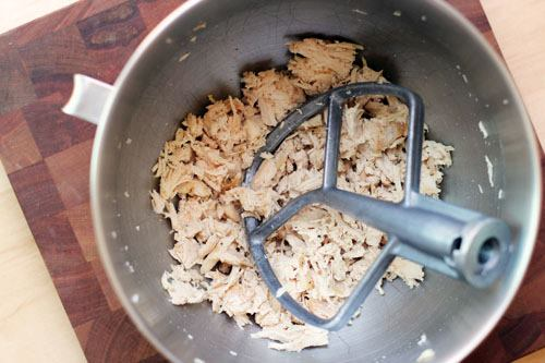 Shred Chicken in your Kitchen Aid Mixer
