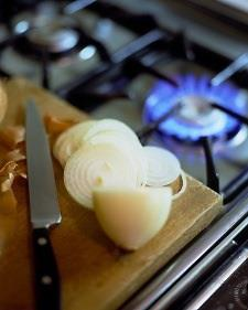 Cut Onions near flames to save eyes