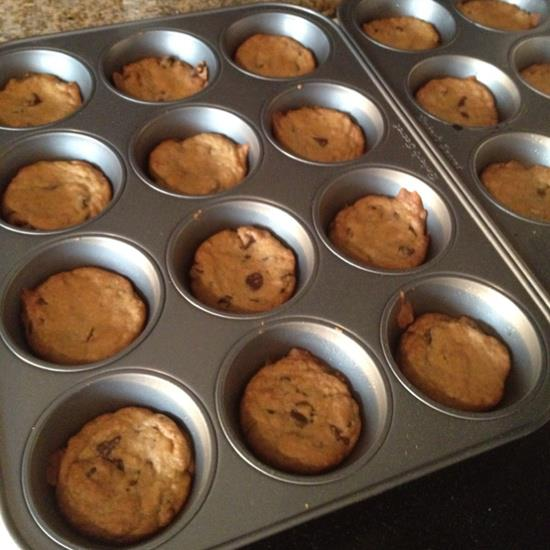 Bake your cookies in a muffin tin