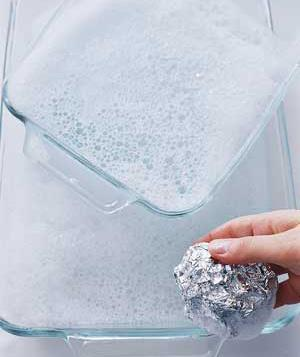 Aluminum Foil as a scrubber