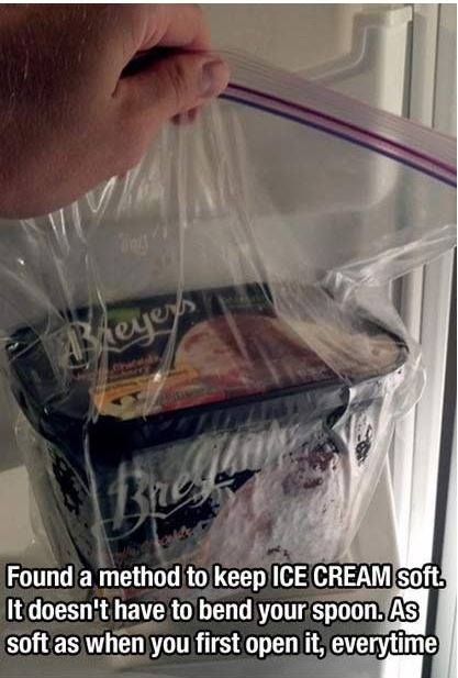 Keep your Ice Cream soft in a bag