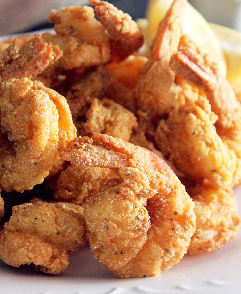How to fry shrimp with cornmeal and flour for How to cook buffalo fish