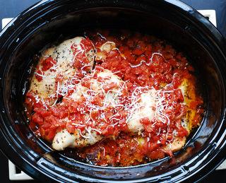 Myfridgefood Slow Cooker Chicken Parmesan