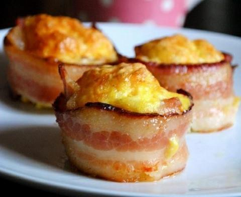Bacon Wrapped Mini Omelet