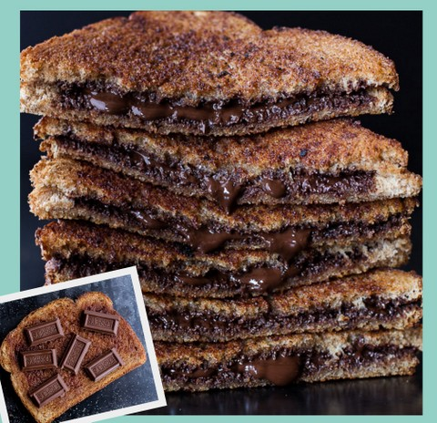 Grilled Cinnamon Chocolate Sandwich
