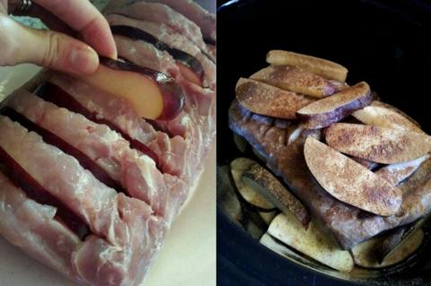 Crock Pot Apple Pork Loin