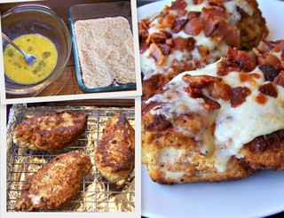 Bacon Parmesan Fried Chicken