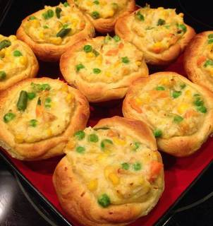Mini Pot Pie Muffins