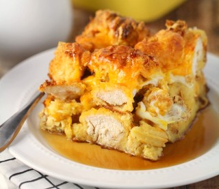 Chicken and Waffle Casserole